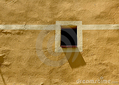Little Window And Shadow On A Mediterranean Facade Stock Photos - Image: 5901983