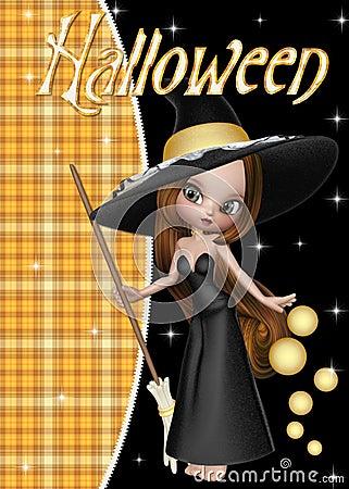 Little Witch Halloween Background