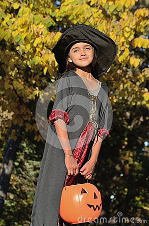 Free Little Witch In The Forest Stock Photos - 27016383