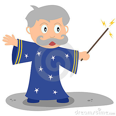 Little Wizard with Magic Wand