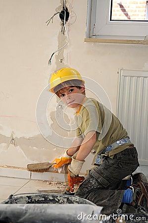 Free Little Workman Stock Image - 57622321
