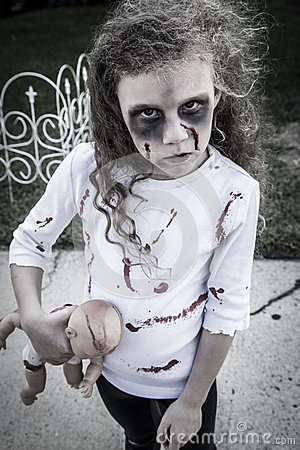 Free Little Zombie Girl Royalty Free Stock Images - 34200599