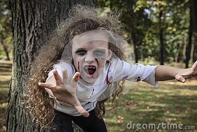 Little Zombie Girl Royalty Free Stock Photo Image 34200375