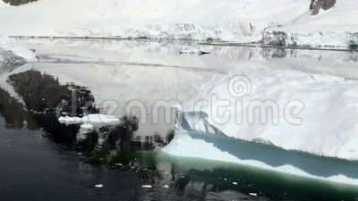 Littoral de l'Antarctique - réchauffement global - givrages clips vidéos