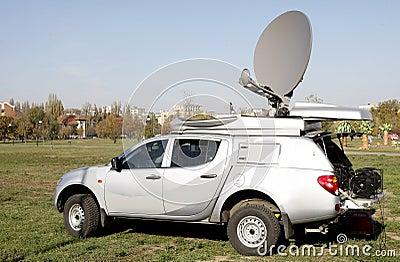 Live broadcast van