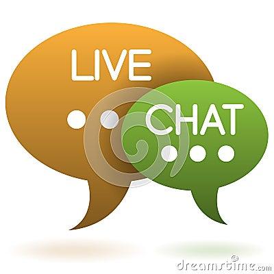 Live chat speech balloons