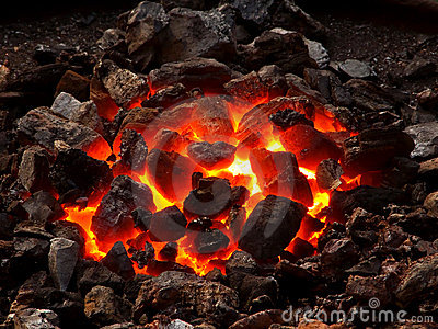 Live coal Stock Photo