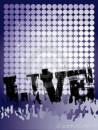 Live Concert Poster Royalty Free Stock Photos - Image: 11087268