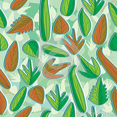 Leaves Seamless Pattern_eps