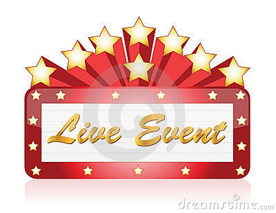 Live event red Star Neon theater sign