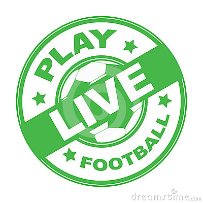Live football stamp
