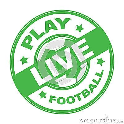 Live football stamp