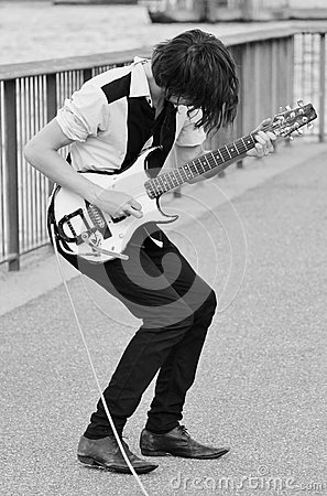 Live music on electric guitar Editorial Image