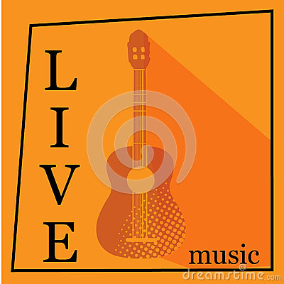 Free Live Music Vector Poster Template. Stock Images - 69766204