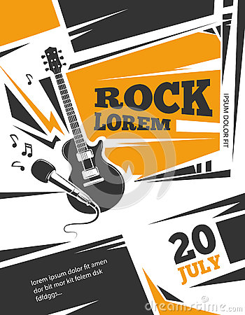 Free Live Music Vector Poster Template Royalty Free Stock Image - 76548386