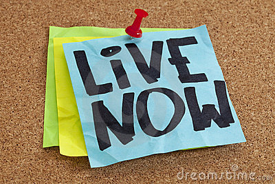 Live now reminder