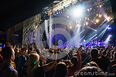 Live performance concert Editorial Stock Photo