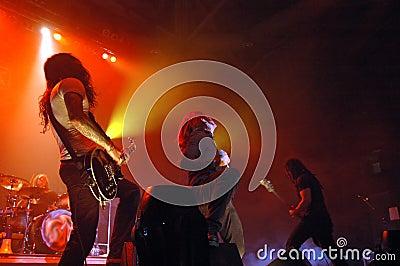 Live rock för konsert