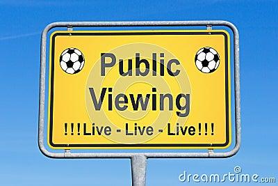 Live soccer sign