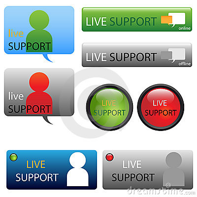 Live support buttons