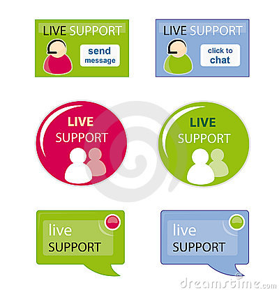 Live support icon set