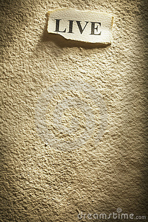 Live On Textured Paper Stock Images - Image: 5166684