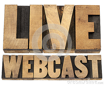 Live webcast in wood type