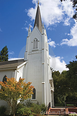 Free Lively Small Town Church Stock Photos - 3004763