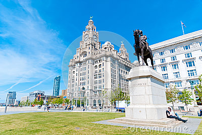 Liver Building with a statue Editorial Image