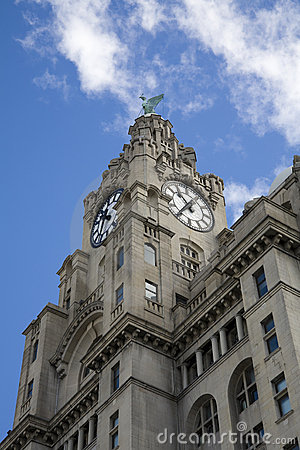 Liver buildings, Liverpool Pier Head