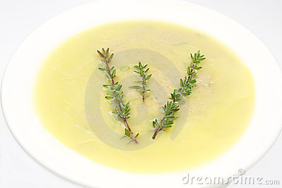 Liver pate with thyme branch