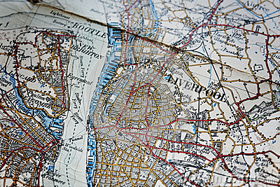 Liverpool area old map