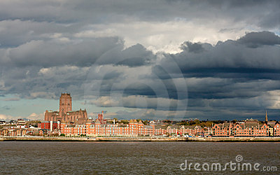 Liverpool City Storm Clouds Skyline