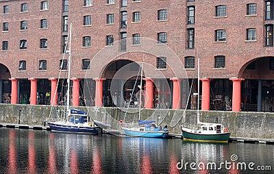 Liverpool docks (Albert Dock) Editorial Stock Image