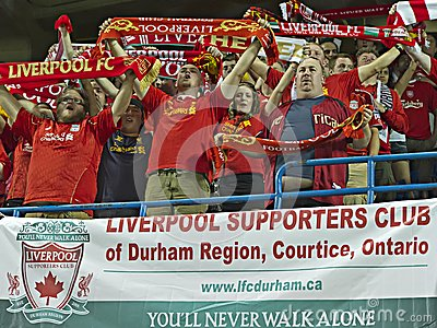Liverpool FC Fans Editorial Image