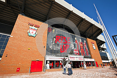 Liverpool Football Club stadium. Editorial Stock Photo