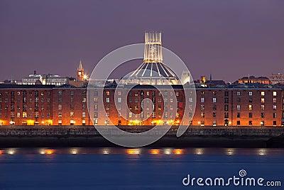 Liverpool night cityscape