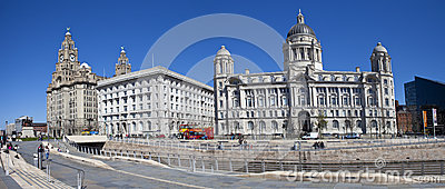 Liverpool Panoramic Editorial Stock Photo