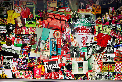 Liverpool Poster at Anfield stadium Editorial Stock Photo