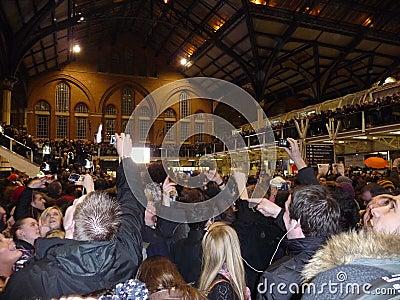 Liverpool Street Station Flashmob Editorial Stock Image