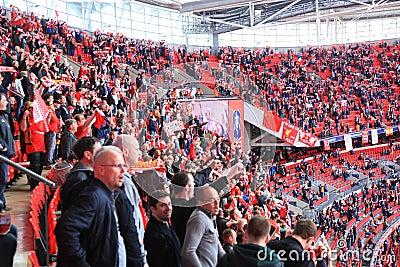 Liverpool vs Everton FA Cup Semi Final 2012 Editorial Photo