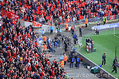 Liverpool vs Everton FA Cup Semi Final 2012 Editorial Stock Photo