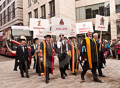 Livery Companies Lord Mayor s Show London Editorial Stock Image