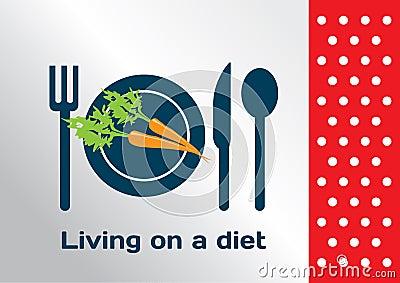 Living on a diet symbol