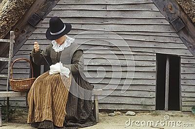 Living history reenactment of Pilgrims Editorial Image