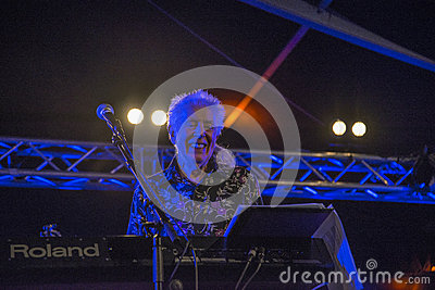 A living legend, john mayall, england, notodden blues festival Editorial Photography