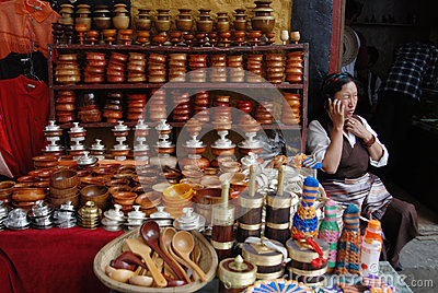 Living in Lhasa Editorial Stock Photo