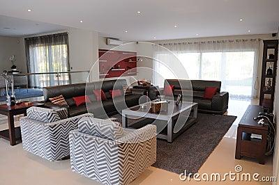 Modern Living Room, Stylish Parlor, Luxury, Home