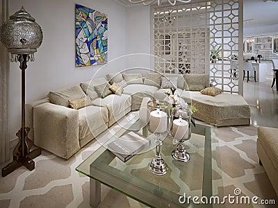 Living room arabic style stock illustration image 48276427 for Deco woonkamer moderne woonkamer