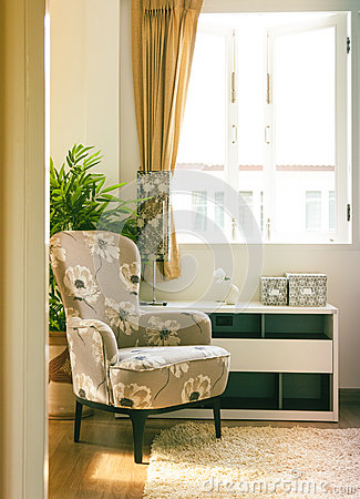 Armchair In Living Room Stock Image - Image: 8895661
